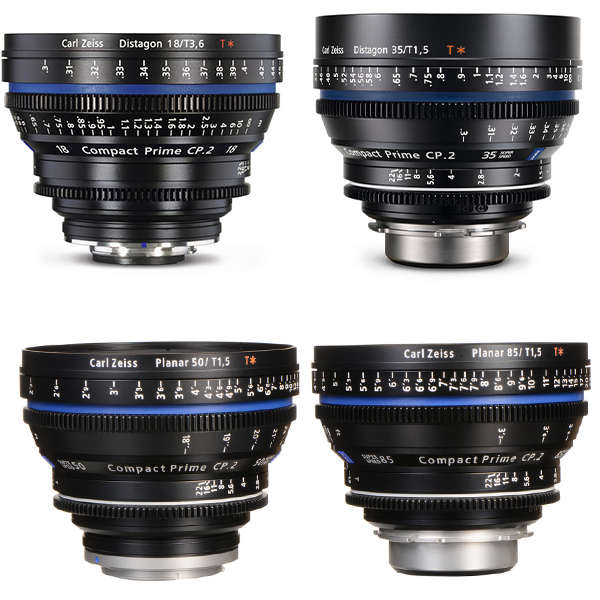 Zeiss CP2 Prime Lenses